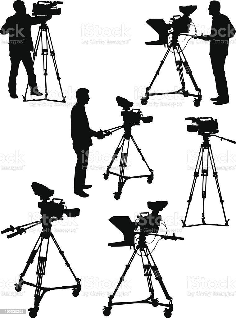 Professional Camera vector art illustration