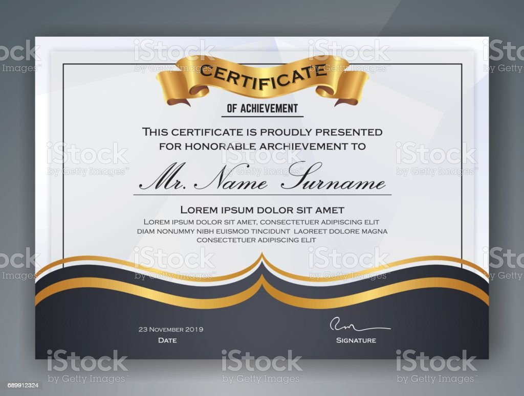 Professional Certificate Template Stock Vector Art & More Images of ...