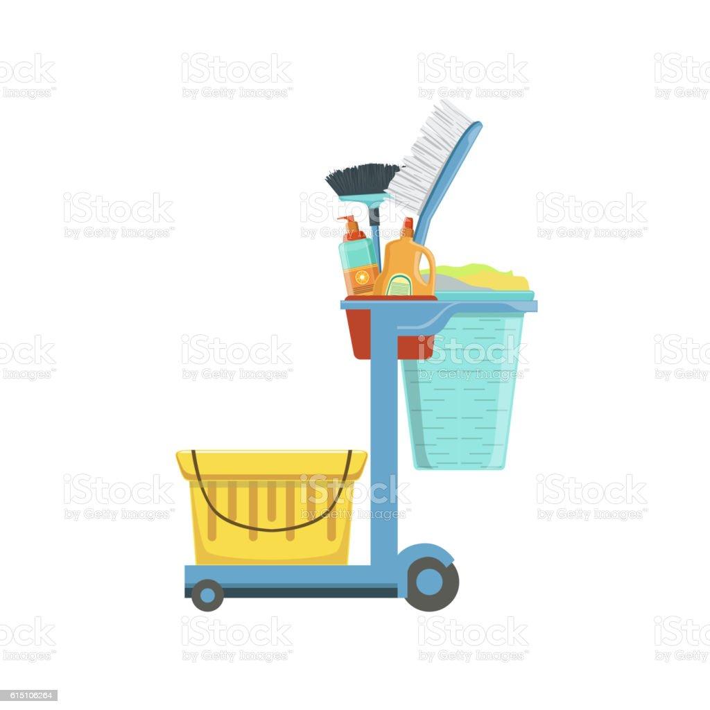 Professional Clean Up Household Equipment Set vector art illustration