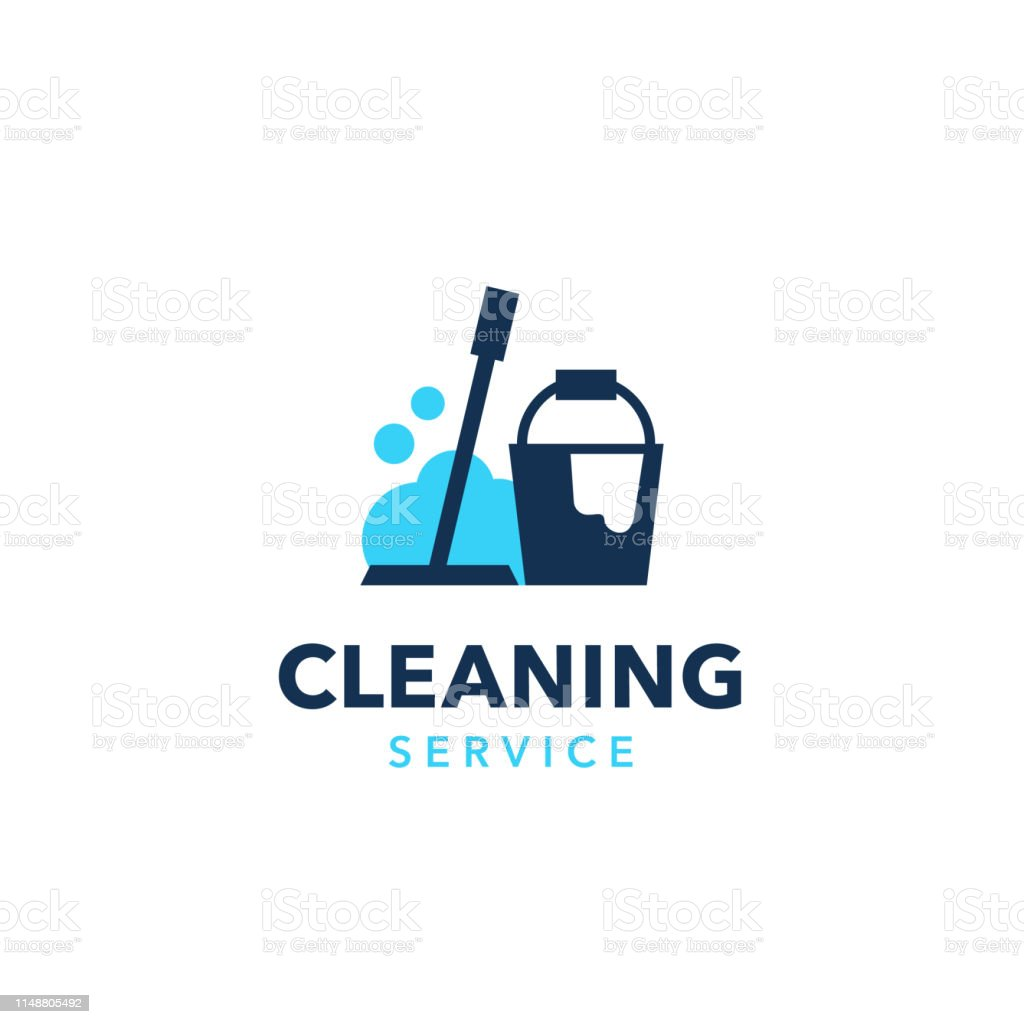 Professional cleaning company logo design royalty-free professional cleaning company logo design stock illustration - download image now