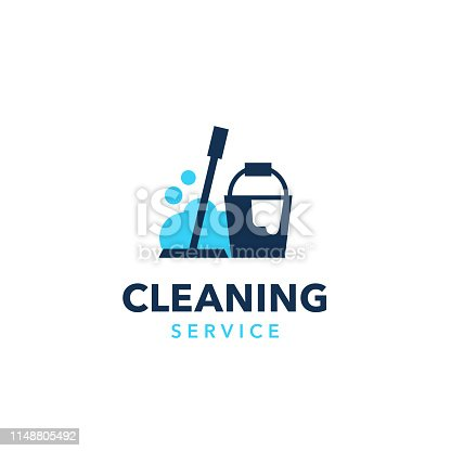 istock Professional cleaning company logo design 1148805492