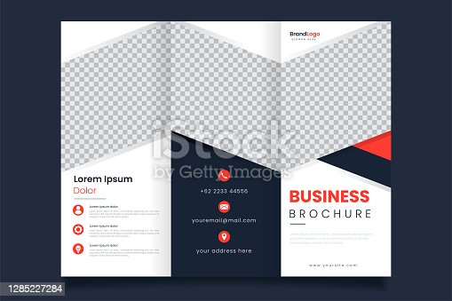 istock Professional design of triple business brochure template 1285227284