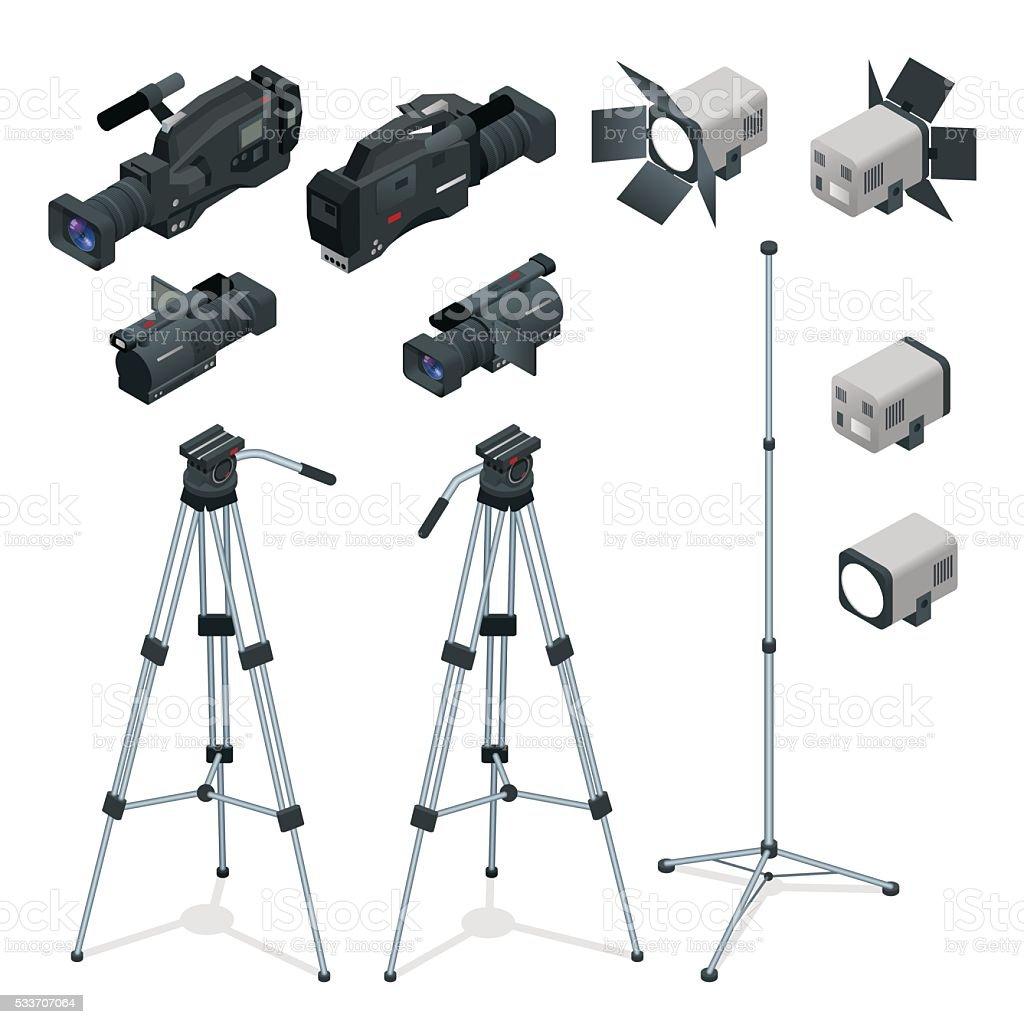 Professional digital video vector art illustration