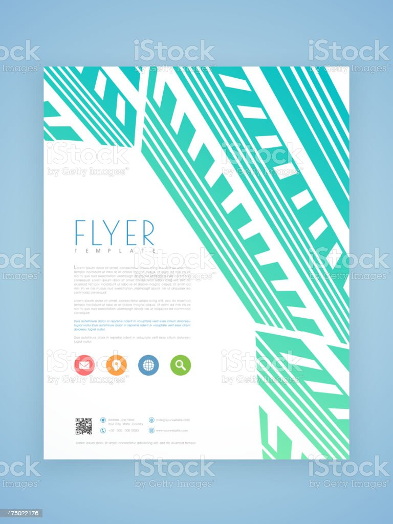 professional flyer template or brochure design stock vector art