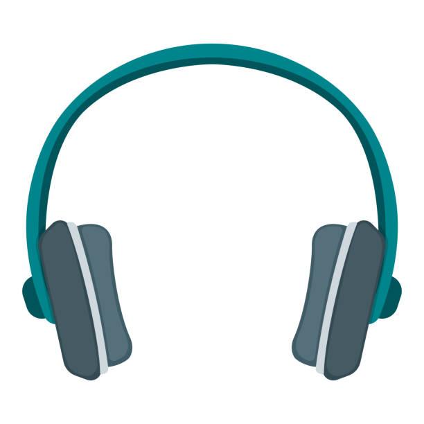 stockillustraties, clipart, cartoons en iconen met professionele gokkenheadset voor spel, het pictogram van het muziek luisterende concept van de hoge kwaliteit, plat vectorillustratie, die op wit wordt geïsoleerd. - call center