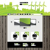 Professional Green Eco Website Design Vector