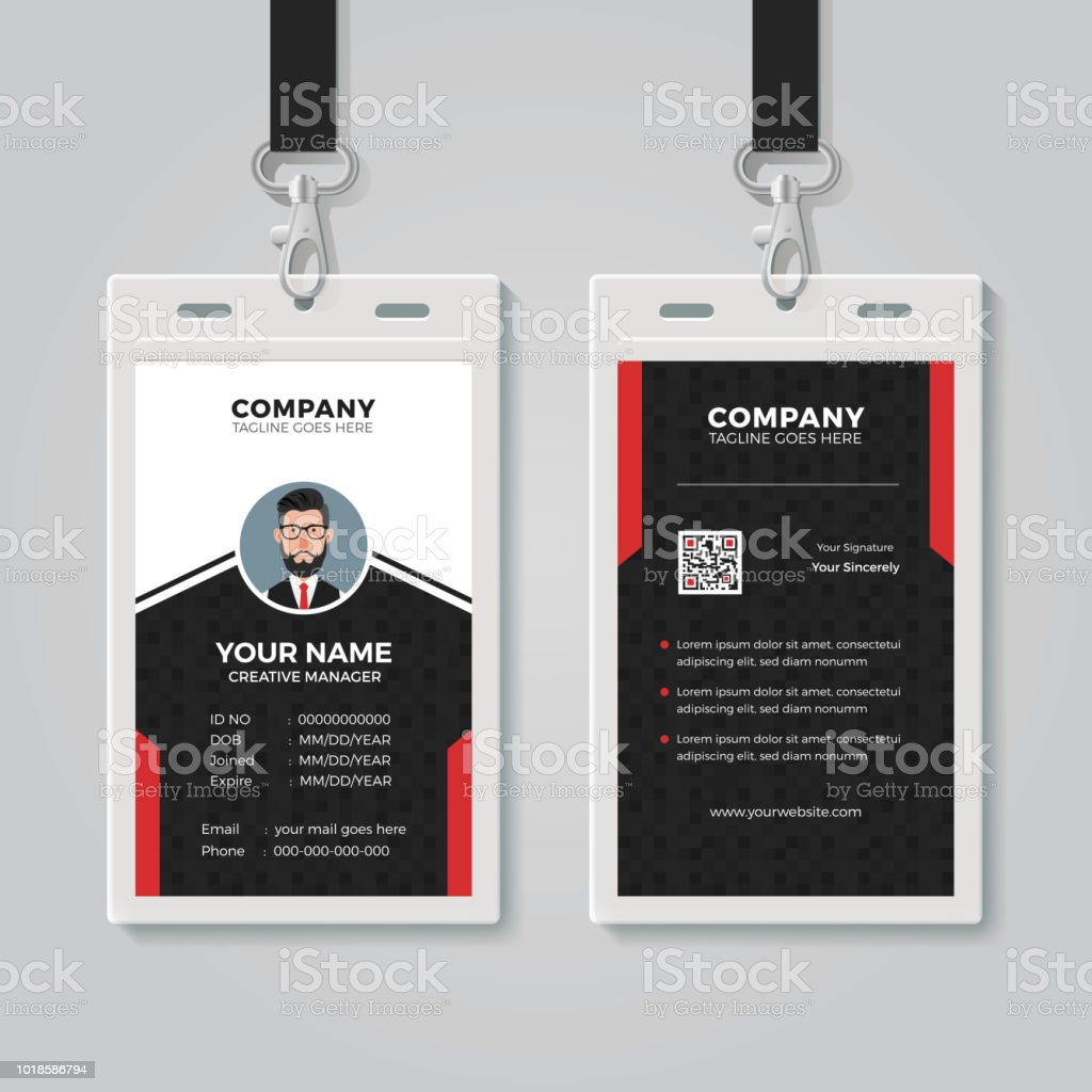 Professional Id Card Template Stock Vector Art & More Images of ...