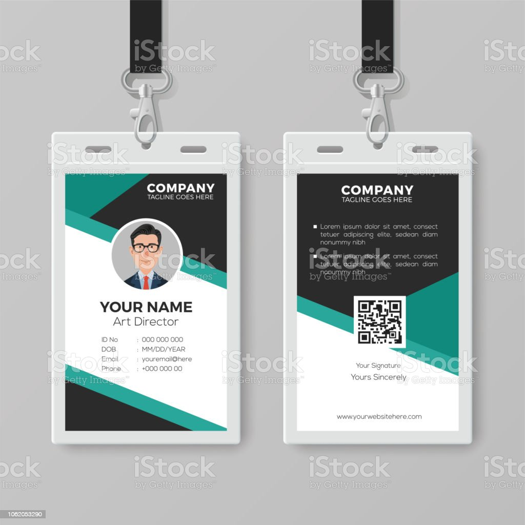 professional id card template stock vector art more images of