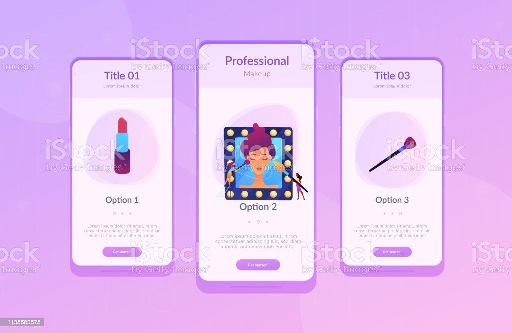 Professional Makeup App Interface Template Stock
