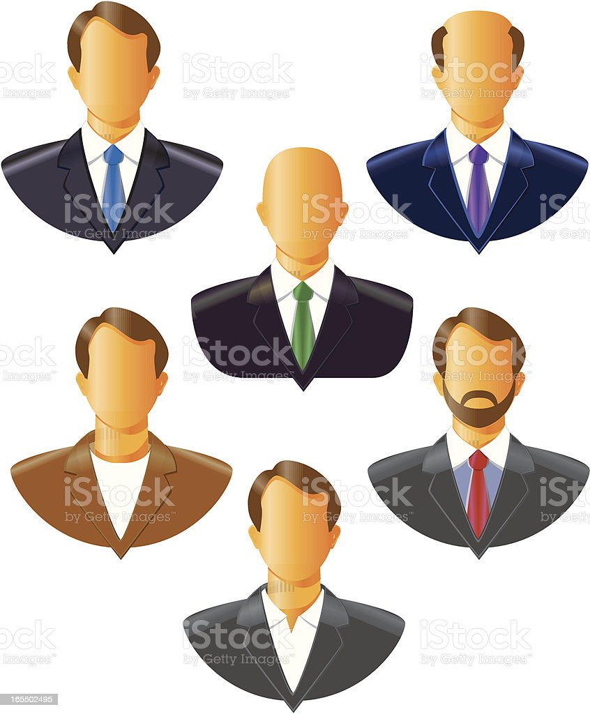 Professional mens silhouettes royalty-free stock vector art