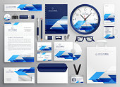 professional modern business stationery set design for your brand identity