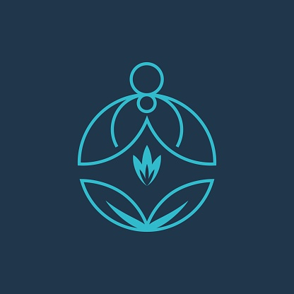 Professional, Modern, Minimalist Yoga Meditation Brand Line Art Logo Identity Vector Illustration