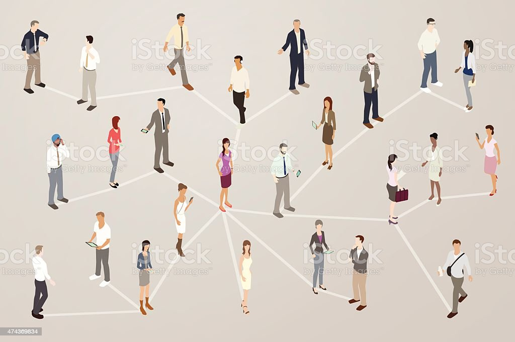 Professional Network Illustration royalty-free professional network illustration stock vector art & more images of 2015