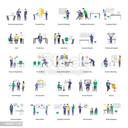 An amazing set of professional people, this flat icons pack is facilitating you with its editable style. Download it fit in your needs.