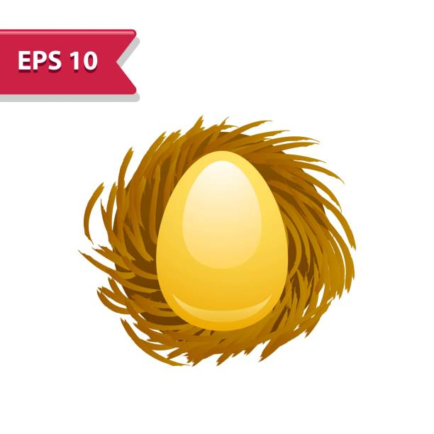 Professional, pixel-aligned icon in realistic colors. Professional, pixel-aligned icon in realistic colors. nest egg stock illustrations