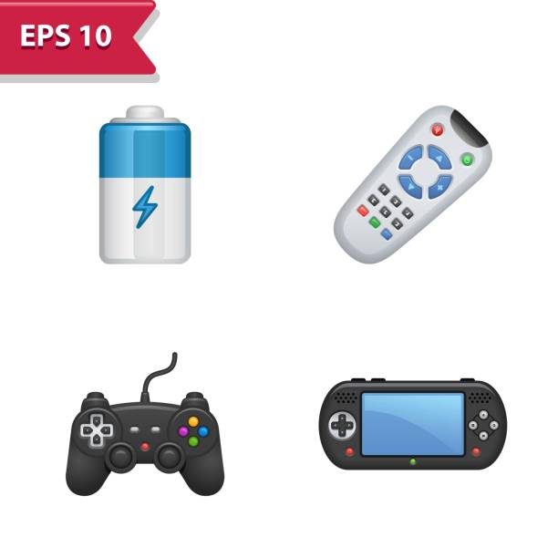 Professional, pixel-aligned icons in realistic colors. Professional, pixel-aligned icons in realistic colors. gamepad stock illustrations