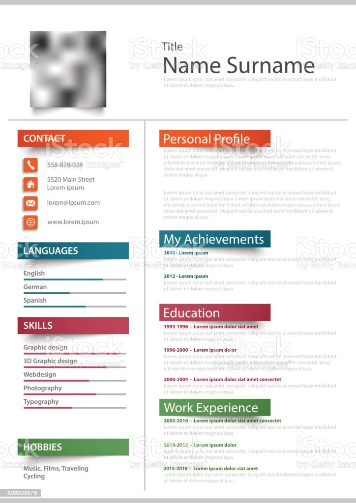 best resume templates illustrations  royalty