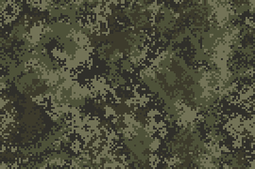 Professional seamless pixel summer camouflage for your production or design