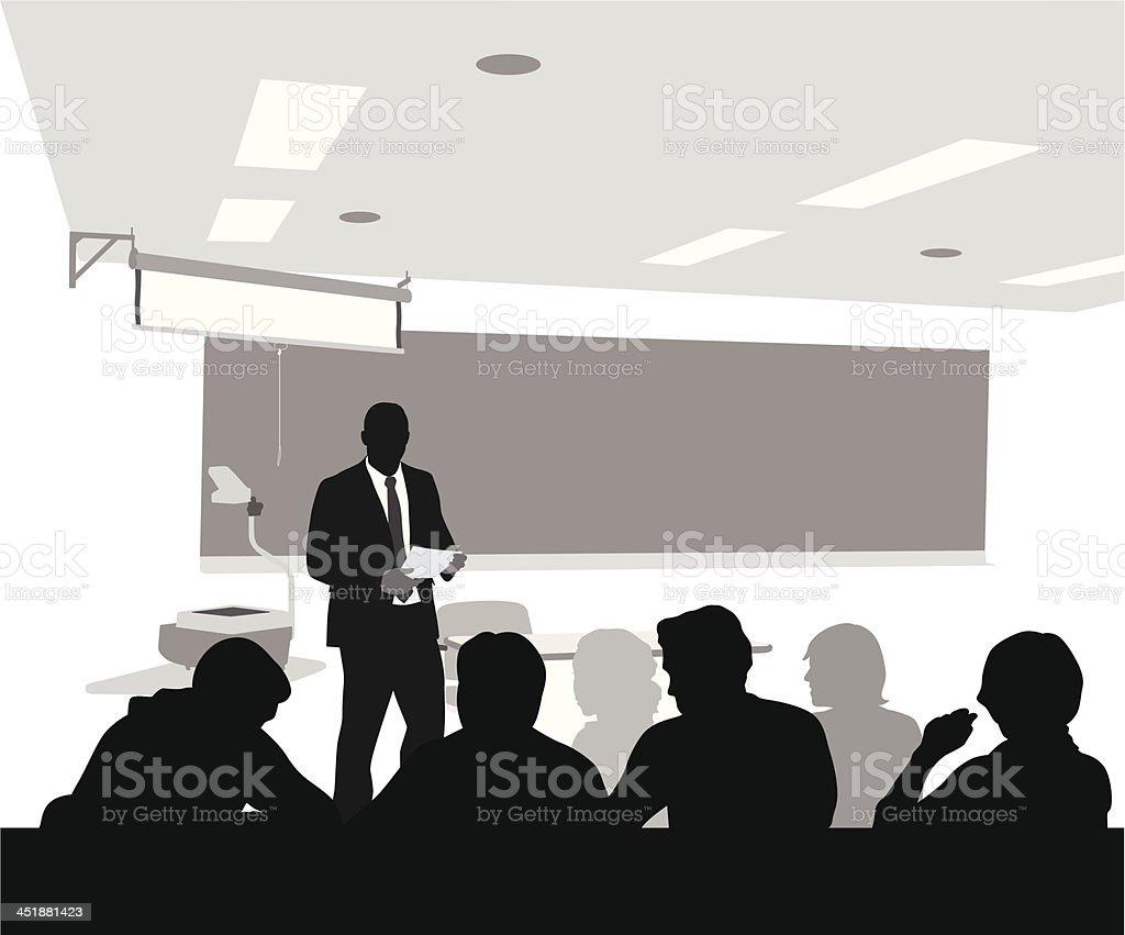 Professional Teacher vector art illustration