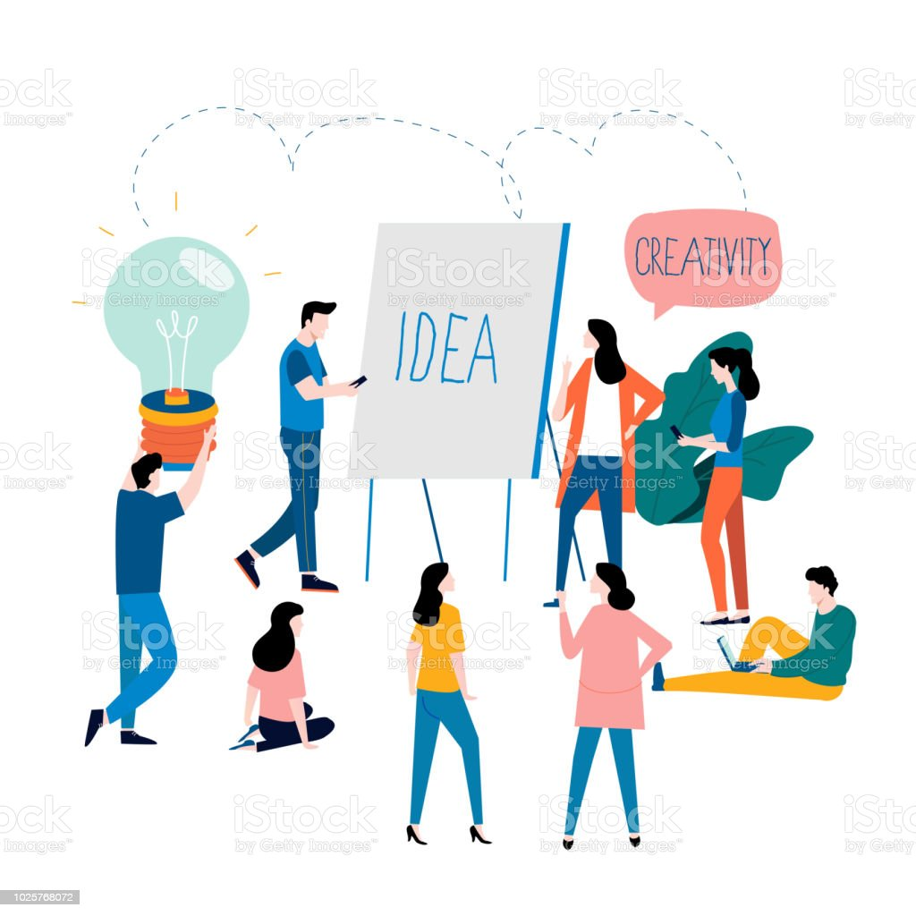 Professional training, education, online tutorial and online business courses vector art illustration