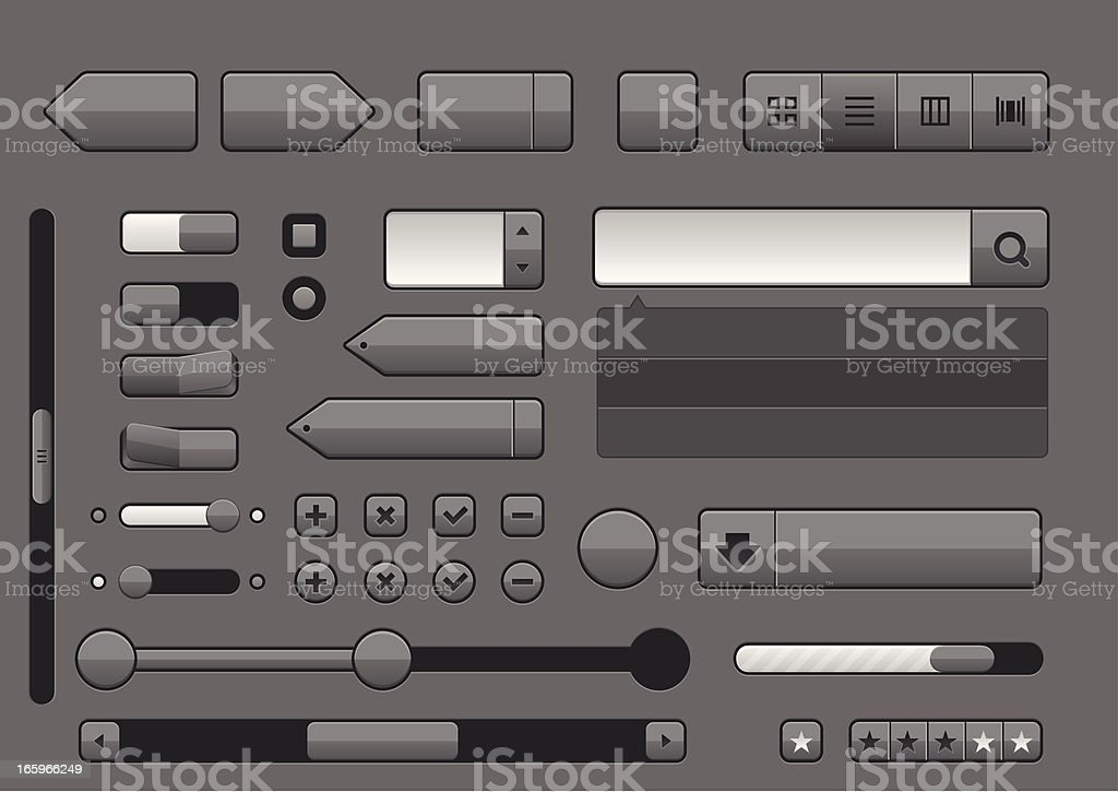 Professional user interface elements royalty-free stock vector art