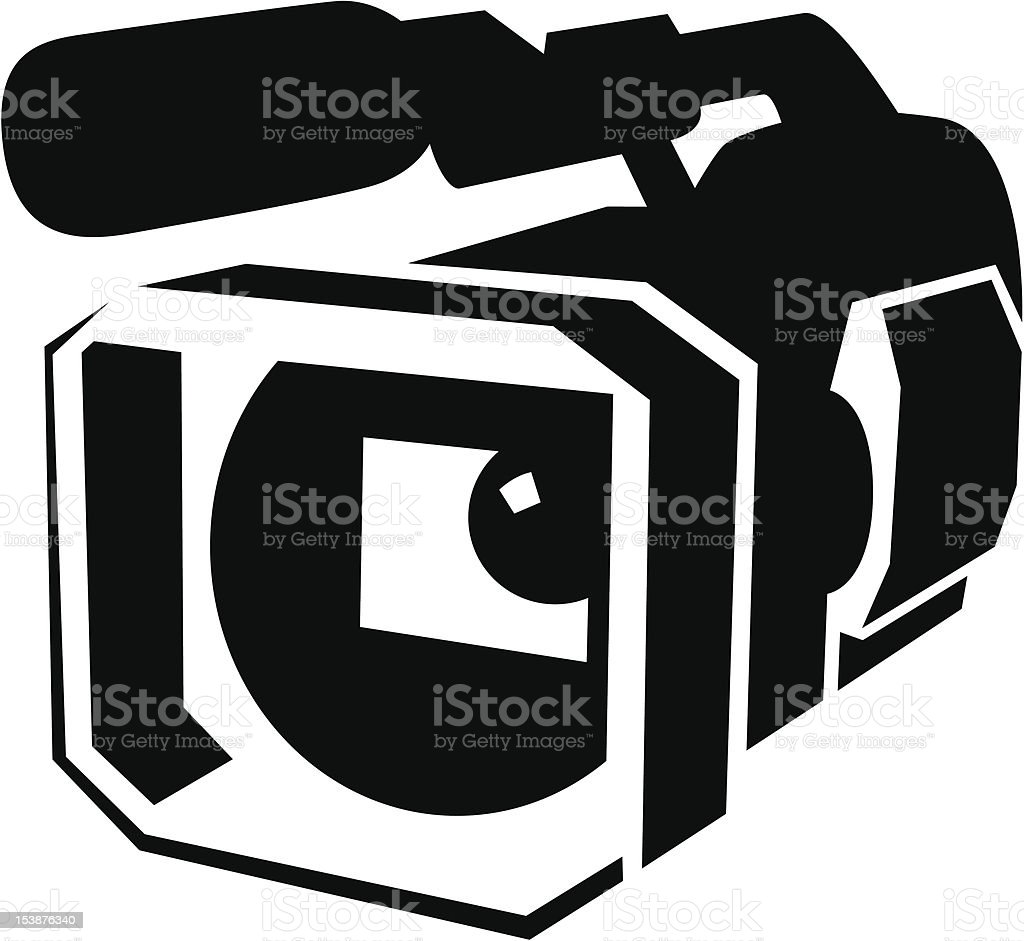 Professional video camera royalty-free stock vector art