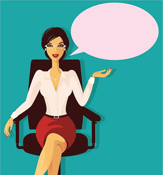Profesjonalny kobieta. – artystyczna grafika wektorowa