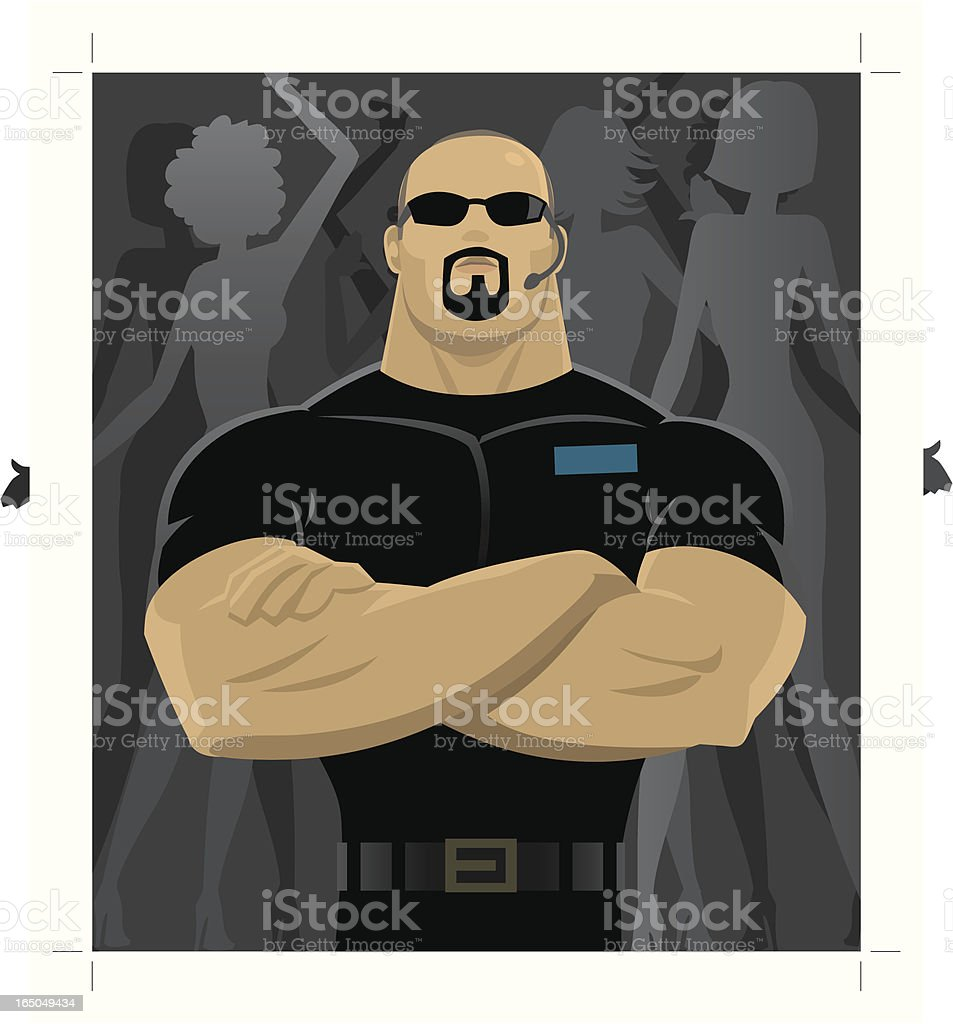 Professions - Bodyguard royalty-free stock vector art