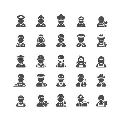 Professions Flat Icons