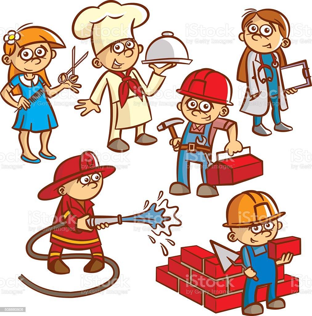 Ilustración de Profesiones Para Niños y más Vectores Libres de ...