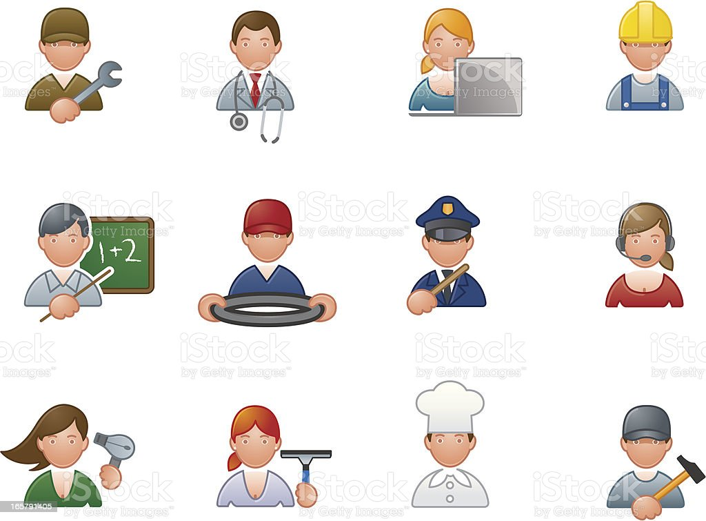 Professions icons royalty-free professions icons stock vector art & more images of adult