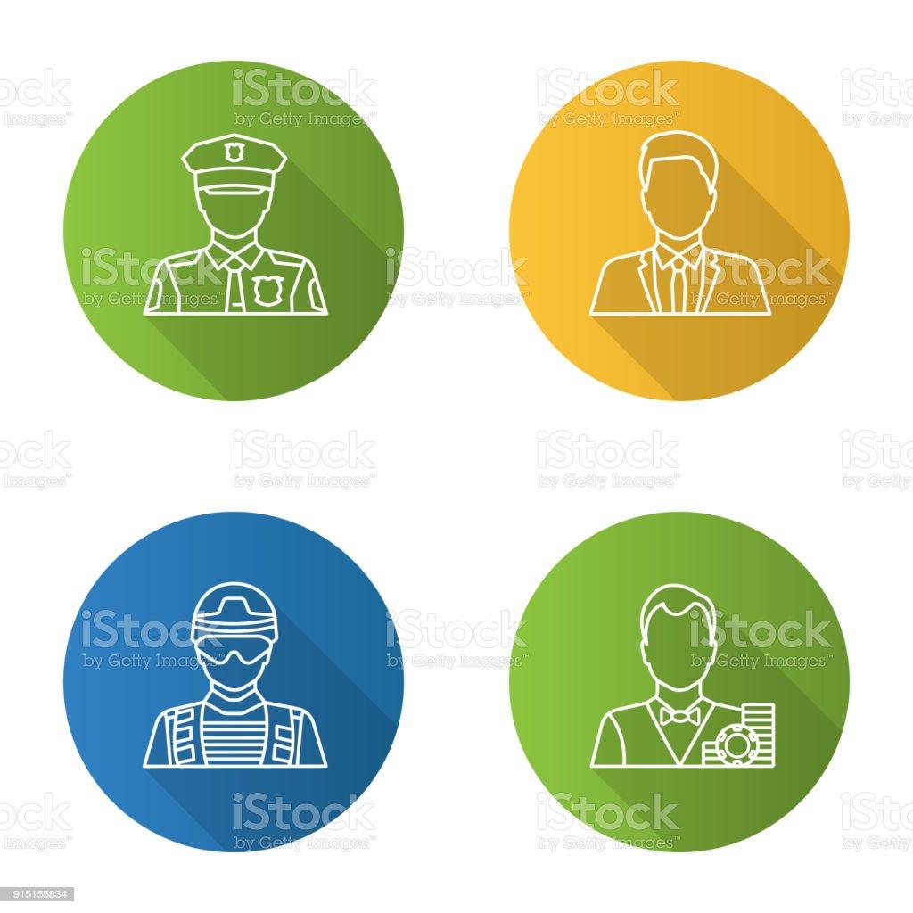 Berufe Symbole – Vektorgrafik