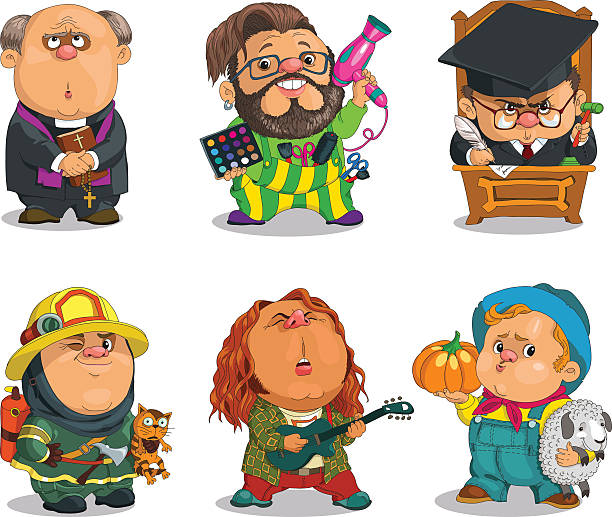 professions - old man funny pictures stock illustrations, clip art, cartoons, & icons