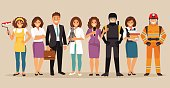 Set of people with different professions. Part 3. Vector illustration