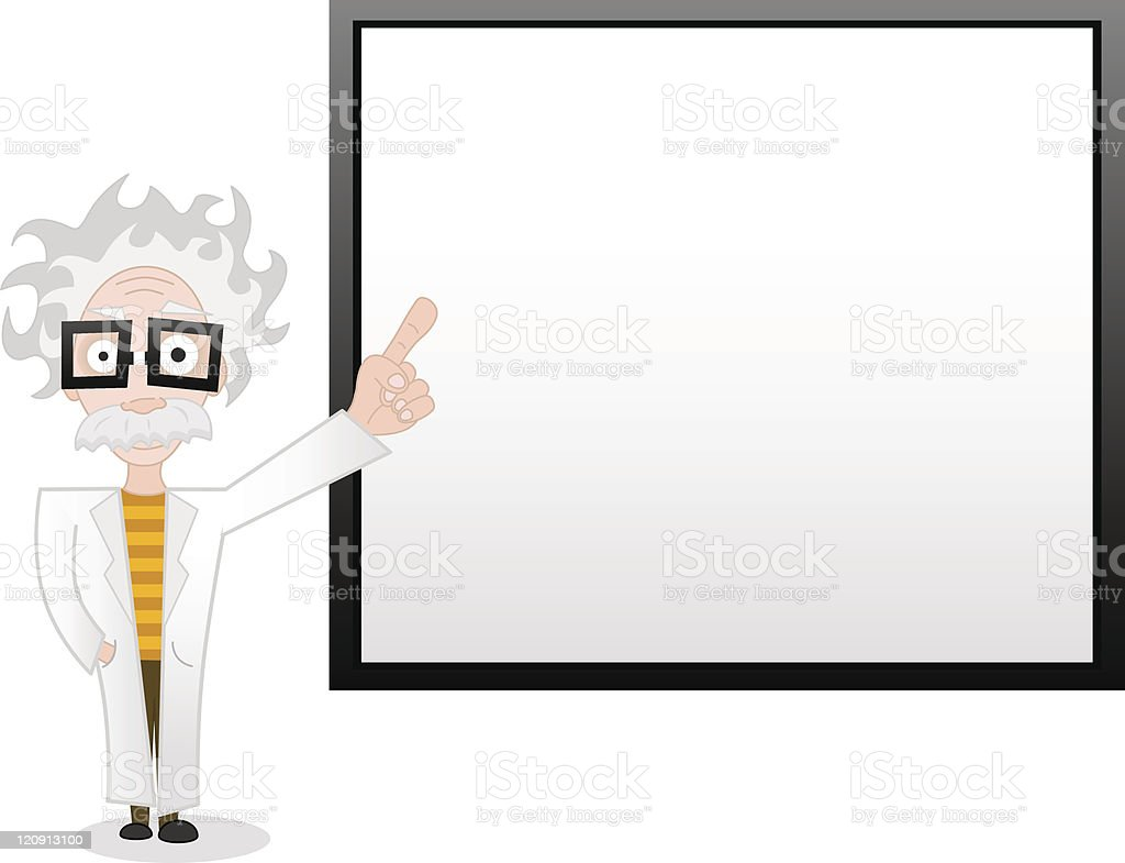 professor and whiteboard royalty-free stock vector art