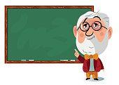 Vector Professor at blackboard