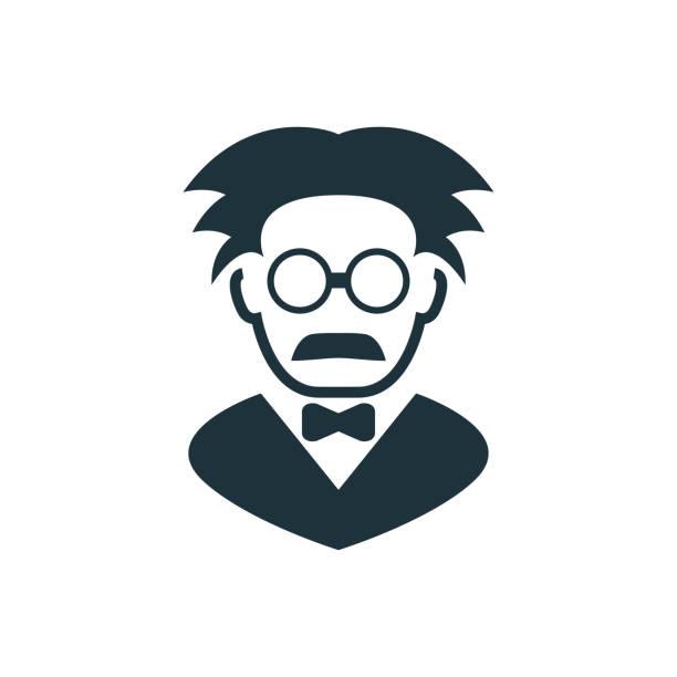 illustrations, cliparts, dessins animés et icônes de icône de professeur - professeur d'université