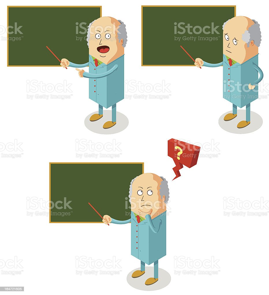 professor is teaching royalty-free stock vector art