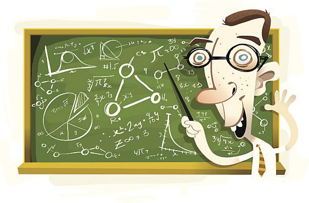教授 mathberger - 数学の授業点のイラスト素材/クリップアート素材/マンガ素材/アイコン素材