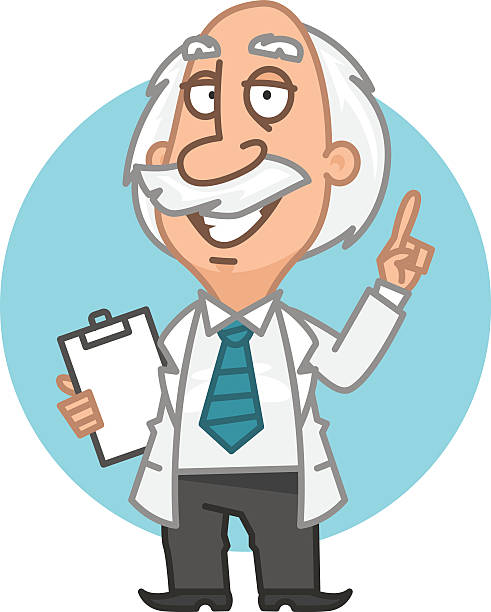 professor showing thumbs up and smiling - old man showing thumbs up cartoons stock illustrations, clip art, cartoons, & icons