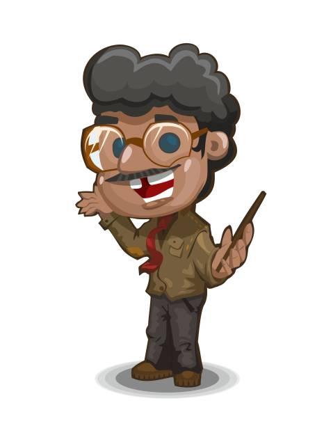 professor - old man showing thumbs up cartoons stock illustrations, clip art, cartoons, & icons