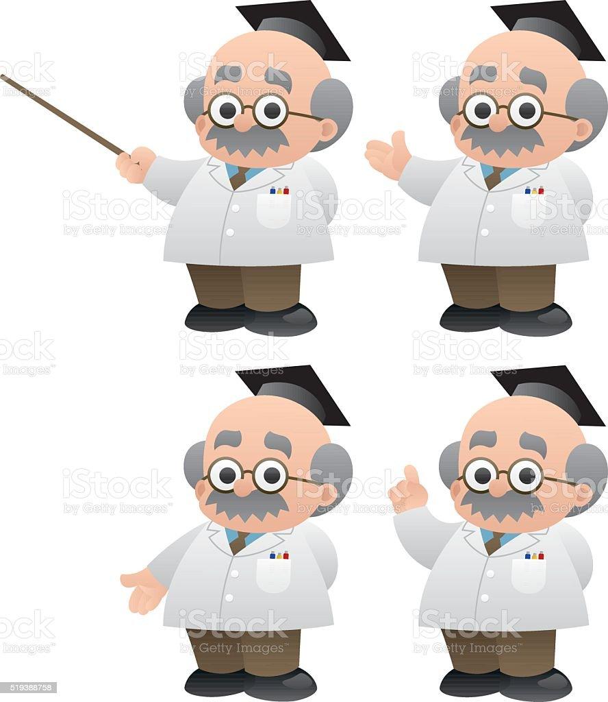 Professor vector art illustration