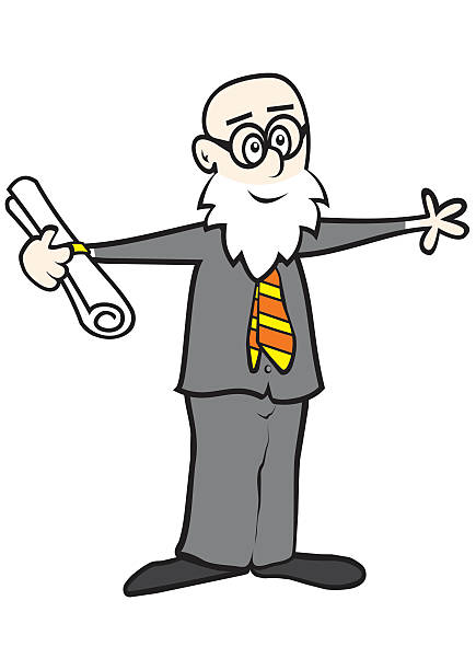 professor - old man naked silhouette stock illustrations, clip art, cartoons, & icons