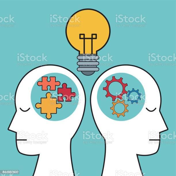 Profile human heads bulb puzzle gear vector id844932602?b=1&k=6&m=844932602&s=612x612&h=x7zhphmay41tyozhuatckp320qf8azapt8jgmoszueu=