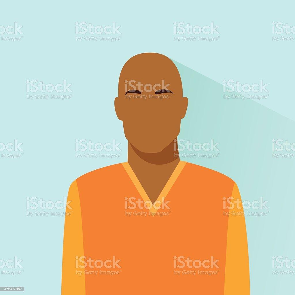 profile icon bold african american male avatar portrait casual vector art illustration