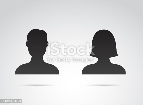 Vector art: profile icon of couple.