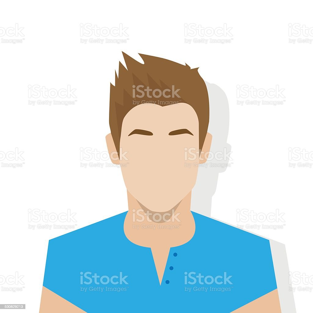 profile icon male avatar portrait casual person vector art illustration