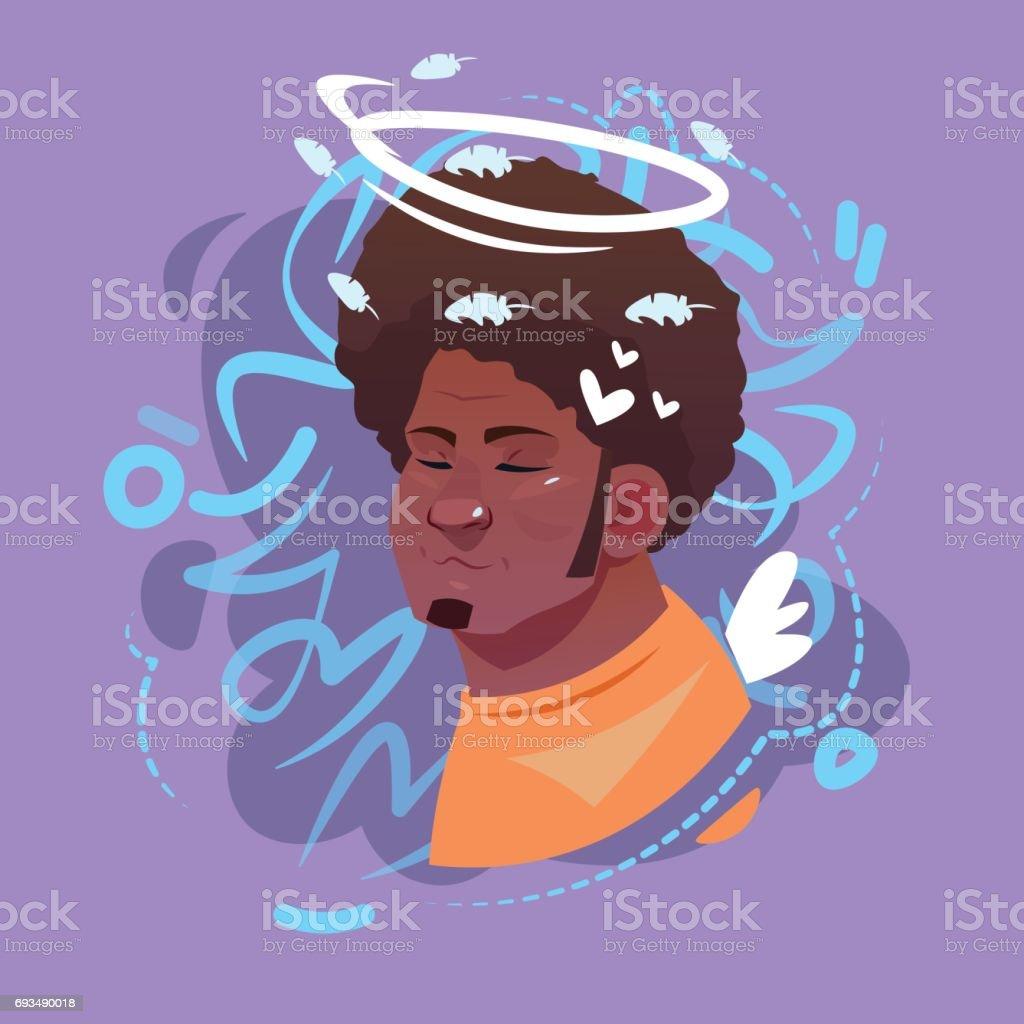 프로필 아이콘 남성 감정 아바타 Hipster 남자 만화 초상화 행복 한 웃는 얼굴 개념에 대한 스톡 벡터 아트 및 기타 이미지