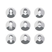 profile icons for men and women