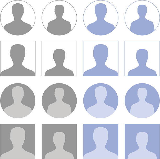 Profile icons vector art illustration